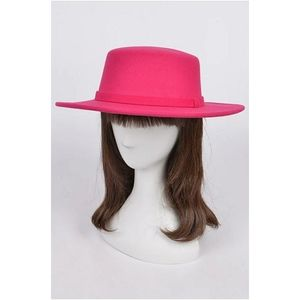 Women's Flat Top Hat | Fuchsia Pink